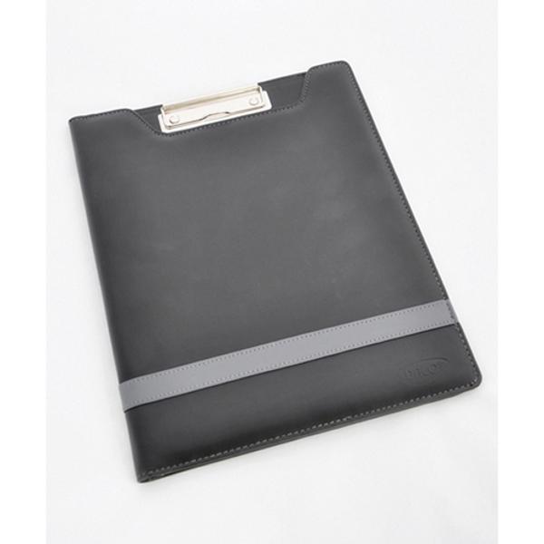 din imitatie piele culoare NEGRU buzunar documentebuzunar carti vizita pe coperta a 2-a suport instrument de scris mecanism prindere documente nichelat