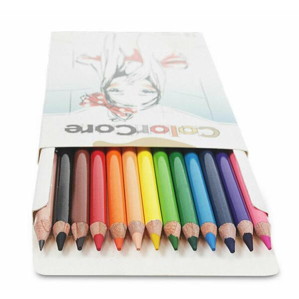 Creioane colorate Set 12 culoriDiametru grif 40mmSetul mai este completat cu creion grafit cu duritatea HB si diametrul 22mm Nu sunt recomandate copiilorcu virsta sub 3 ani