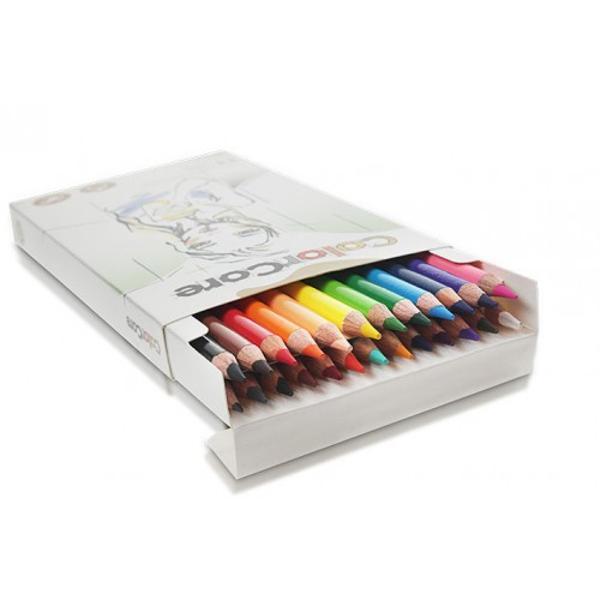 Creioane colorateSet 24 culoriDiametru grif 40mm Setul mai este completat cu creion grafit cu duritatea HB si diametrul 22mm Nu sunt recomandate copiilorcu virsta sub 3 ani