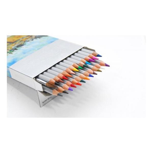 Creioane colorate acuarela cu pensulaSet creioane 24 CuloriDiametru grif 32mmNu sunt recomandate copiilorcu virsta sub 3 ani