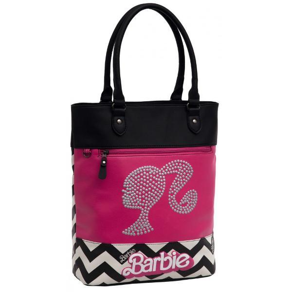 Geanta de shopping 37 cm Barbie Dream - 1 compartiment dimensiune 305x37x13 cm material piele ecologica culoare negru & fuchsia maner fix 1 buzunar frontalGeanta shopping  Geanta umar cu licenta Barbie colectia Barbie Dream este recomandata pentru feteCaracteristiciTiptd