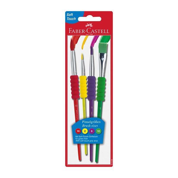 Pensule in culori luminoase atractive Varf rotund 2 6 10 sau tesit 12 din par sintetic colorat Corp cu zona grip moale pentru o prindere usoara