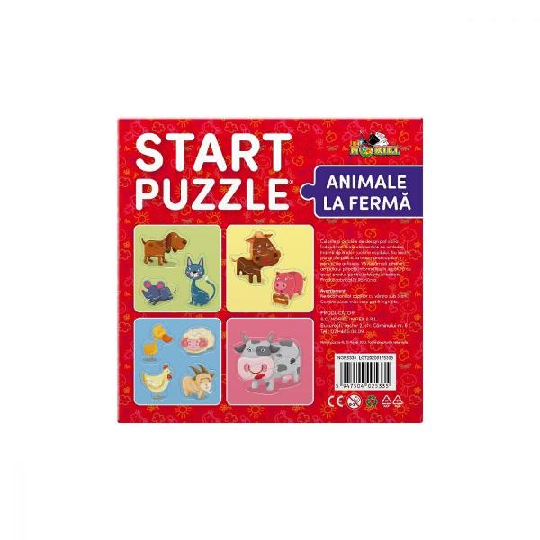 Noriel Puzzle - Start Puzzle Animale la ferma  NorielPentru Baieti FeteVarsta 3 - 4 ani 4 - 5 aniNumar piese