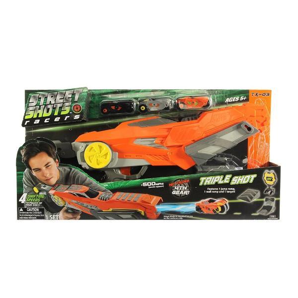 Street Shots - Triple Shot Blaster  Noriel  Pentru BaietiVarsta 5 - 7 ani 7 - 8 ani 8 ani Tip