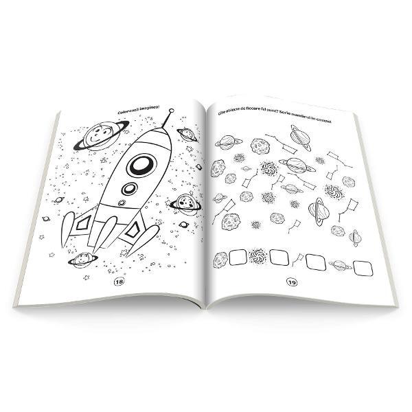 Descopera minunatul cosmosColoreaza si rezolva activitatile dinaceasta carte împreuna cupersonajele amuzante ca sadescoperi si tu tainele spatiuluicosmic Aventura te asteapta