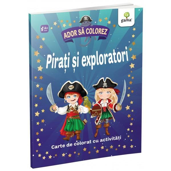 Descopera lumea piratilor exploratorilor si aventurierilorColoreaza si rezolva activitatile dinaceasta carte împreuna cupersonajele amuzante ca sa-tidezvolti atentia si imaginatia Aventura te asteapta