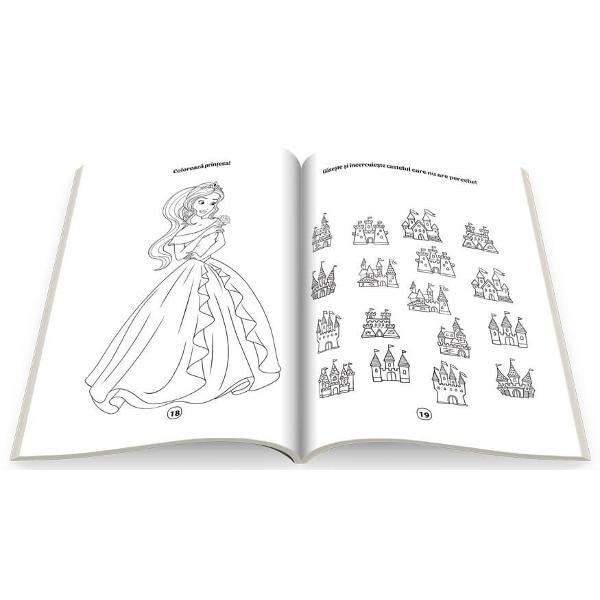 Descopera lumea magica aprintilor si printeselorColoreaza si rezolva activitatile dinaceasta carte împreuna cupersonajele amuzante ca sa-tidezvolti atentia si imaginatiaAventura te asteapta