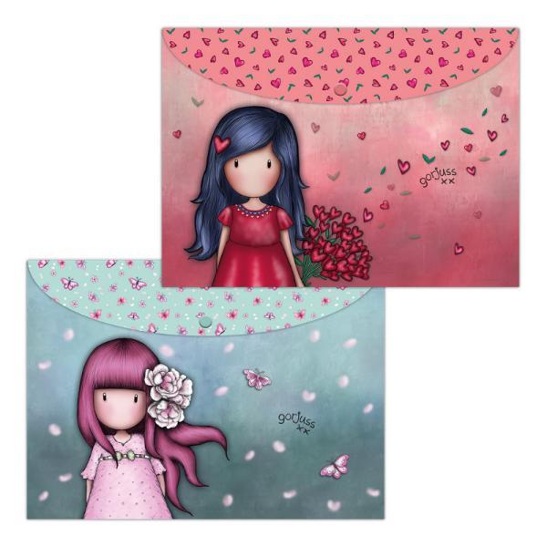 Set 2 mape PP A4 Gorjuss Cherry Blossom & Love Grows de la SantoroSetul de doua mape Gorjuss Cherry Blossom & Love Growseste ideal pentru sortarea fiselor de lucru si organizarea documentelor Culorile calde indraznete care alcatuiesc design-ul binedispun si ajuta sa simti ca esti cu adevarat organizata si ordonataMaterialplastic 1 PPInchidere cu capsa din plasticSet 2 mape