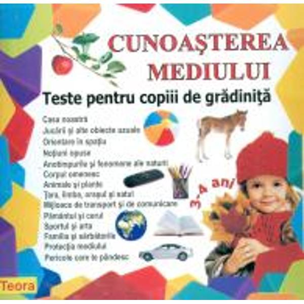 Cunoasterea mediului teste pentru copiii de gradinita