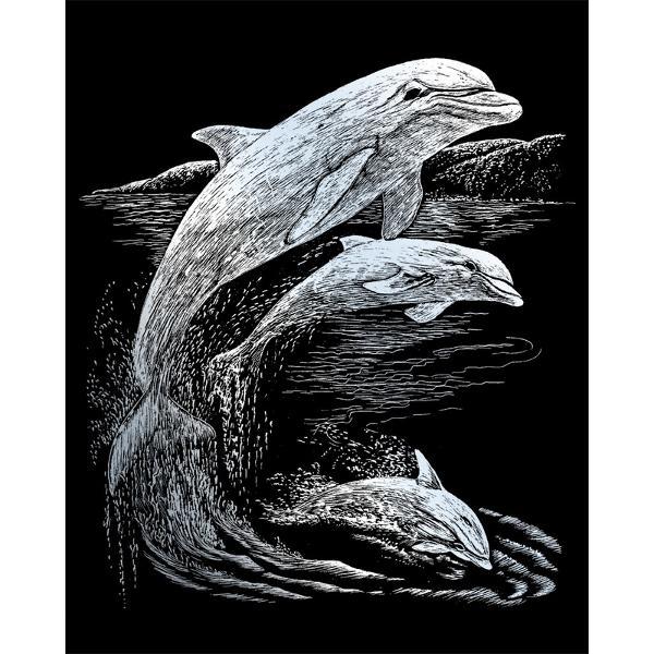 Set gravura pe folieargintie- DelfiniSet gravura pe folie argintie - Delfinite invita sa petreci cateva ore in compania celei mai vechi forme de exprimare artistica de cand exista omul pe pamant Placa neagra predesenata in tonuri fine de gri inchis te va ghida in noua ta calatorie poate chiar initiatica Nu stii niciodata ce pasiuni va trezi in interiorul tauul