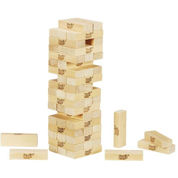 Jocul original cu blocuri de lemn Extrage blocurile de lemn pozitionate inferior si amplaseaza-le deasupra - fara a darama turnul