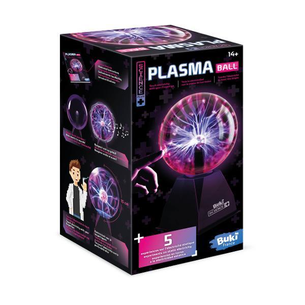Sfera din plasma cu diametru de 15 cm ideala pentru decorarea dormitoruluiReactioneaza la atingere si creeaza flashuri inofensive de electricitate De asemenea reactioneaza la suneteDescoperiti 5 experimente uimitoare despre electricitatea staticaSetul include 1 minge din plasma priza manual ilustratDimensiunile cutiei 17 x 17 x 257 cmVarsta recomandata 14 aniBaterii se conecteaza la prizaAvertisment Nu incercati sa