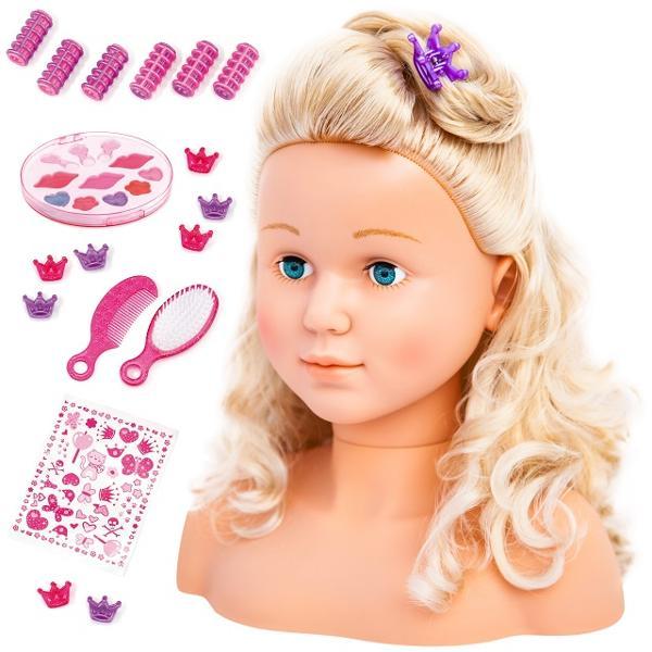 Papusa Super Model toate fetele pot fi stilistePapusa are 27 cm are o fa&539;&259; minunat&259; &537;i un p&259;r blond frumosCu accesorii incluse precum agrafe de p&259;r bigudiuri perie &537;i pieptene îi po&539;i face p&259;rul de câte ori vreiPoti folosi setul pentru ai crea un stil complet cu un machiaj perfectLivrarea se face într-o cutie spectaculos de frumoas&259;M&259;sur&259;tori cm 245 x 16 x