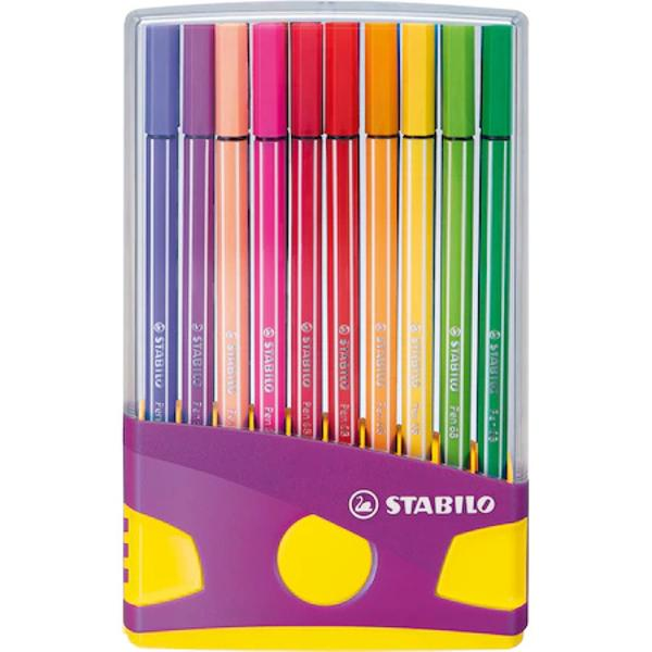 Tip produs CariociCuloare MulticolorCuloare corp MulticolorDiametru varf 1 mmForma RotundMaterial PlasticNumar bucatiset 20