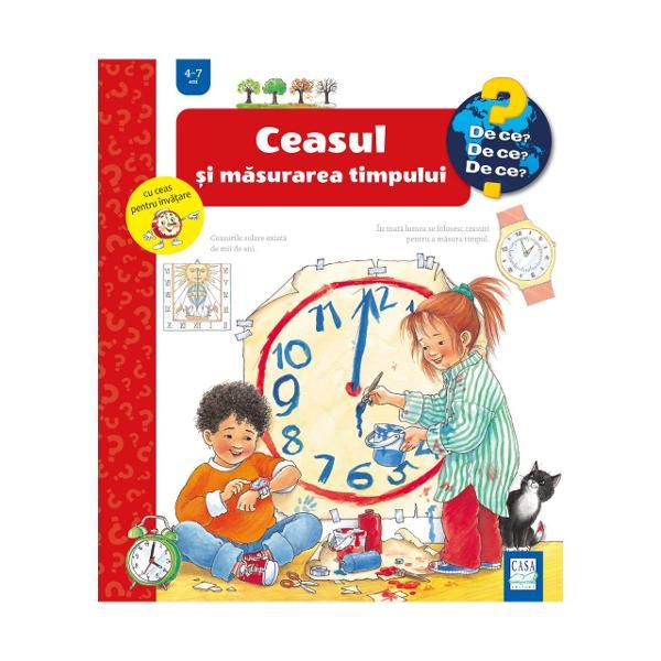 Timpul reprezint&259; un fenomen complex &537;i este adesea greu de în&539;eles pentru copiii miciAcest titlu încearc&259; s&259; r&259;spund&259; întreb&259;rilor celor mici legate de ceas &537;i timp Ce este &537;i cât dureaz&259; timpul De ce exist&259; noapte &537;i zi sau var&259; &537;i iarn&259; Cât dureaz&259; o lun&259; Ce este un calendar Au existat mereu ceasuri Ce este un ceas digital Cum se cite&537;te ceasul