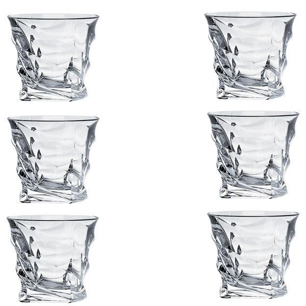 Set 6 pahare Whisky Casablanca Bohemia 300ml din Sticla Cristalina cu TitaniumDimensiuni 95×95×97cmCutie de cadou inclusa