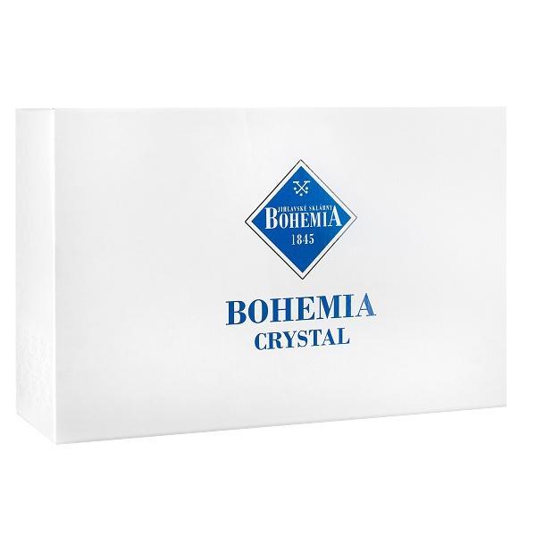 Set 6 pahare sampanie din cristal model Caren 180mlAmbalare in cutie de cadou de culoare clasica Bohemia