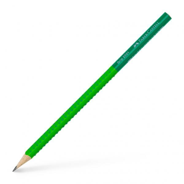 Creioane grafit bicolore Grip 2001Calitate de topForma ergonomica triunghiularaZona Grip moale in culori asortateCorpul acoperit cu vopsea ecologica pe baza de apa bicolora mina B