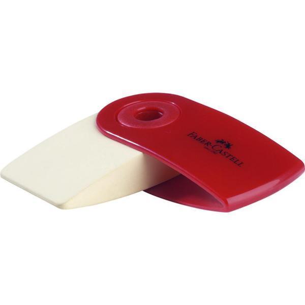 Forma ergonomicaCapacul mobil de plastic protejeaza radiera impotriva murdarieiPentru creioane grafit PVC-freeCuloarea capacului rosu sau albastruPretul afisat este per bucata