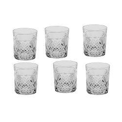 Set 6 pahare cristal Whisky Megan 320ml 07603/320