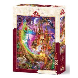 Puzzle 500 piese - Rainbow Castle-Ciro MarchettiPuzzle-ul 500 pieseRainbow Castle-Ciro Marchettieste perfect pentru persoanele care doresc o pauza linistita solo din agitatia si stimulul neincetat al stilului de viata digital de astaziStudiile arata ca persoanele care fac puzzle-uri si cuvinte incrucisate au o durata de viata mai lunga cu sanse mai mici de a dezvolta boala Alzheimer pierderea