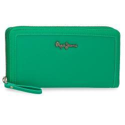 Portofel dama, protectie RFID, Pepe Jeans Aina, verde 75385.23 imagine librarie clb
