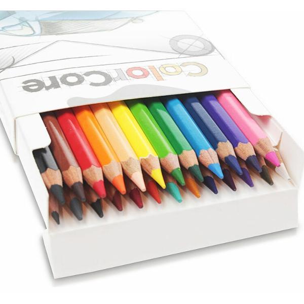 Creioane colorateSet 24 culori Diametru grif 40mmSetul mai este completat cu creion grafit cu duritatea HB si diametrul 22mmNu sunt recomandate copiilor cu virsta sub 3 ani