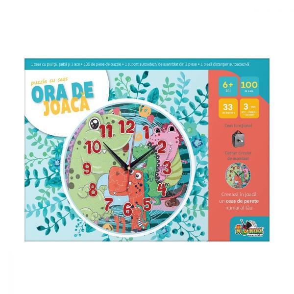 Puzzle cu ceas Noriel Ora de joaca - Sirena  Noriel  Pentru Baieti FeteVarsta 5 - 7 ani 7 - 8 ani 8 - 10