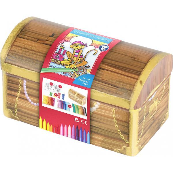 cadoul perfect pentru desen &537;i joac&259;lada de comori cu 33 carioci Connector 10 clipsuri 10 carduri craft pentru colorat