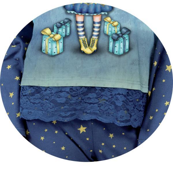 Pijama copii Gorjuss Just BecauseFii si tu gorjuss cu un produs inspirat de personajele colectiei cu acelasi nume si adu emotia si frumosul in viata ta si a persoanelor iubitePijamaua copii Gorjuss Just Because este alegerea perfecta pentru confortul cald al noptilor copiilor tai Realizata din material de bumbac in procent de 89 cu un design unic si delicat este o piesa importanta din garderoba proprie• Marca Santoro