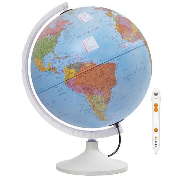 Glob iluminat 20 vine cu un stilou vorbitor care va ofera o multime de informatii in 6 limbi diferite