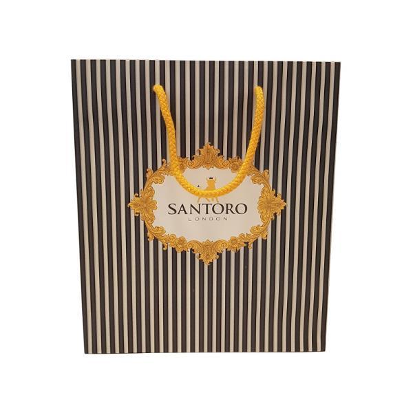 Punga cadou Santoro micaPunga cadou Santoro pliceste potrivita pentru a oferi celor dragi cadoul ales intr-un ambalaj cu totul deosebitDimensiuni275 x 24 cm