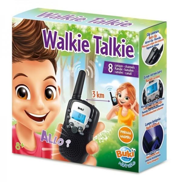 Explorati lumea folosind walkie-talkies cu o raza de actiune de 3 kmFunctii multiple 8 canale pentru utilizare sunet de apel cu 10 tonuri lanterna incorporata ecran iluminatInstructiuni ilustrate incluseNecesita 8 baterii LR03 nu sunt incluseDimensiuni cutie 22 x 6 x 22 cmVarsta recomandata 8 ani