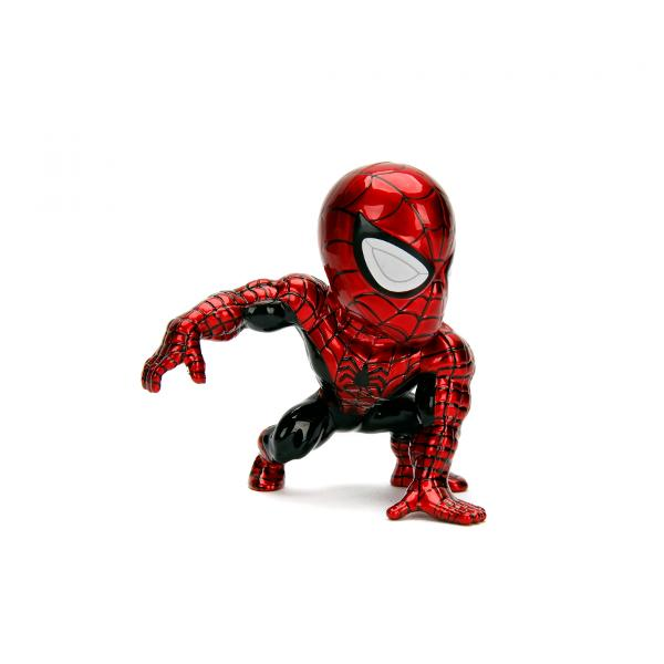 Bring the action home with Marvels iconic web-slinger Spider-Man This stylized die-cast figure stands 4 inches tall and weighs in at half a pound Collect them all to assemble your own hero team because the weight of the world is in your hands