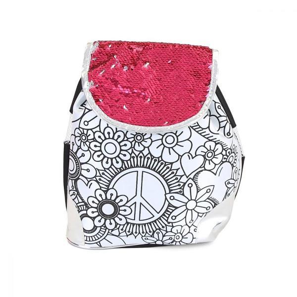 Brand Color ChicTip produs GhiozdanCuloare MulticolorPentru FeteVarsta 5 - 7 ani 7 - 10 ani 10 - 12 ani 12 - 14 aniGTIN 5949033914371Personalizeaza-ti rucsacul in stil hippie colorandu-l cu cele 5 markere incluse si poarta-l in stilul tau