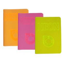 Caiet A5 NEON PP velin 42 file 80gmp diverse culori Koh-I-Noor· format A5· 42 file· tip velin· model NEON· culori disponibile portocaliu roz verdeV&259; rug&259;m s&259; specifica&539;i modelul dorit în comand&259;