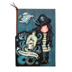 Noteaza-ti informatiile in orice moment cu acestSet 2 carnetele cusute Gorjuss Black PearlSetul contine doua carnetele de dimensiuni diferite ideale pentru a le lua in geanta sau ghiozdanPrimul carnetel contine 60 de pagini liniate cu desene pe margini inspirate din lumea piratilor Acesta este prevazut cu un snur din piele pe care il poti folosi ca un semn de carteCel de-al doilea carnetel contine 60 de pagini simple decorate