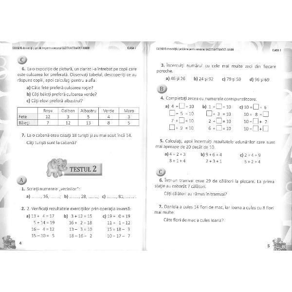 Avizat OMEN Nr 302208012018 Culegerea de exerci&539;ii &537;i probleme pentru concursulGazeta Matematic&259; Junioraduce provoc&259;ri noi pentru aprofundarea cuno&537;tin&539;elor matematice care nu se reg&259;sesc in Revist&259;dar poate fi folosit&259; &537;i la recapitularea general&259; pentruetapele concursului Culegerea pentru clasa Icon&539;ine33 de testea