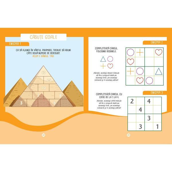Un caiet de lucru pentru a te antrena în rezolvarea problemelor Problemele sunt de dificultate progresiv&259; &537;i te ajut&259; s&259; abordezi corect toate tipurile de probleme cu adun&259;ri &537;i sc&259;deri - 50 de probleme cu rezolv&259;ri - Sfaturi &537;i trucuri - Enigme ca s&259; înve&539;i distrându-te La fiecare capitol este o problem&259; rezolvat&259; ca model Ilustra&539;ii care te ajut&259; la