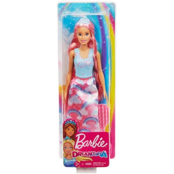 Lasa imaginatia sa zboare catre un tarim magic si minunat cu Dreamtopia Set Papusa cu Perie Cu aceasta papusa Barbie este pregatita pentru noi coafuri fabuloase realizate chiar de catre tine Realizeaza un look fabulos pune in scena o poveste de basm iar mai apoi desprinde parul aranjeaza-l cu peria inclusa si incepe din nouVarsta recomandata 3 ani