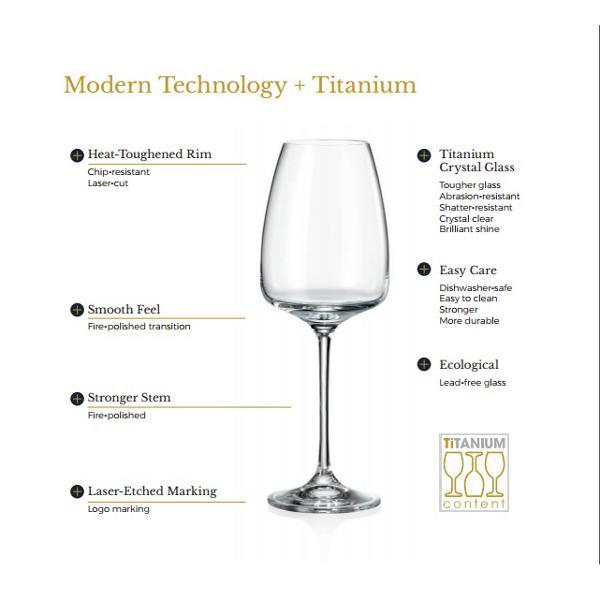 Set 6 pahare sampanie Bohemia Crystalite model WELLINGTON 180ml cu Titanium