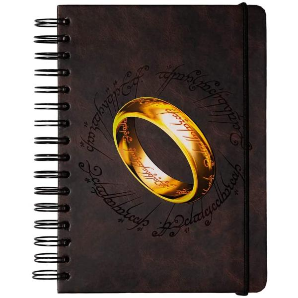 Trendy design - Stunning Lord Of The Rings Bullet journal designed with a wire o-binding system with incredible details that will make you stand out Start your academic year in style Based on the famous Tolkien Saga feel like Frodo with this ring to rule them all designPlenty of space - A versatile A5 notebook that includes 180 pages ideal as a notepad exercise