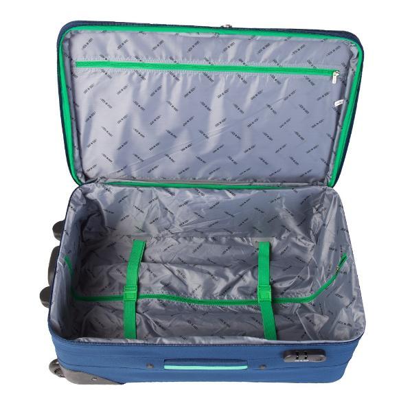 Troler cu 2 roti2 buzunare frontaleTroler mare si mediu expandabil 30Sistem de inchidere cu cifruManer superior si lateral si suport de sustinere la baza trolerului pentru o manevrare mai usoara pentru marimea mare si mediePlacuta identificareBuzunar interior inchis cu fermoarLa interior prezinta bretele elastice pentru fixarea bagajului si un buzunar cu fermoarDimensiune64x41x24 CM