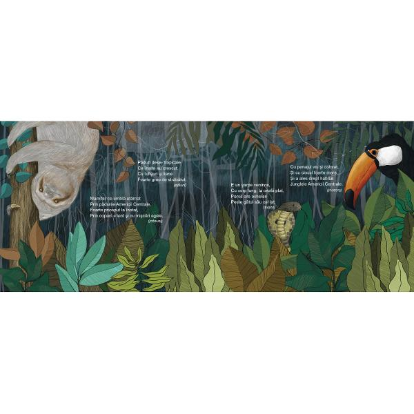 &206;nva&539;&259; despre locuri &238;ndep&259;rtate &537;i animale minunate pe versuri ritmate superb ilustrateO nou&259; carte de poezii semnat&259; Simona Epure &537;i Cornelia Revulets &238;nva&539;&259; copiii o mul&539;ime de lucruri noi &238;ntr-un mod natural &537;i distractiv Fiecare strof&259; con&539;ine termeni descriptivi pentru fiecare element ilustrat de la plante la animale &537;i de la loca&539;ii inedite p&226;n&259; la stele
