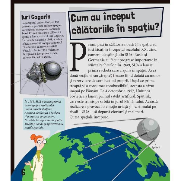 Prima mea carte STEM - RACHETE Cosmicul adev&259;r despre navete sateli&539;i &537;i sondeCum func&539;ioneaz&259; sateli&539;ii Cum este viata la bordul unei statii spa&539;ialeDe ce astronau&539;ii trebuie s&259; poarte costume specialeDescoper&259; r&259;spunsurile la aceste întreb&259;ri &537;i la multe alteleîn acest fascinant ghid despre vehicule spa&539;ialep