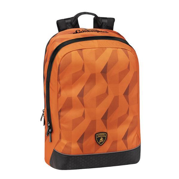 Rucsac Lamborghini orangeRucsacul Lamborghini este un produs original fabricat din materiale premium pentru cei pasionati de aceasta marca Un fan Lamborghini va aprecia in mod deosebit acest produs care pe langa utilitate ii va oferi si mandria de a-si expune pasiunea pentru aceasta marcaRucsacul are un compartiment central complet captusit care se inchide cu fermoar mascat cu doua cheite; are in interior doua buzunare largi cu inchidere cu fermoar