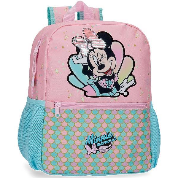 Ghiozdan grupa 0 Disney Minnie Mermaid 25x32x12 cmGhiozdan 32 cm Minnie Mermaid - culoare roz cu imprimeu personaj Minnie Mouse bretele ajustabile  ergonomice dimensiune 25x32x12 cm material poliester 1 compartiment maner superior 2 buzunare laterale inchidere cu fermoar 1 buzunar frontalNu este nimeni mai adorabil decat Minnie Mouse asa ca daca o iei cu tine oriunde te duci iti va inveseli zilele In colectia Disney Minnie Mermaid aveti de la mini-genti de