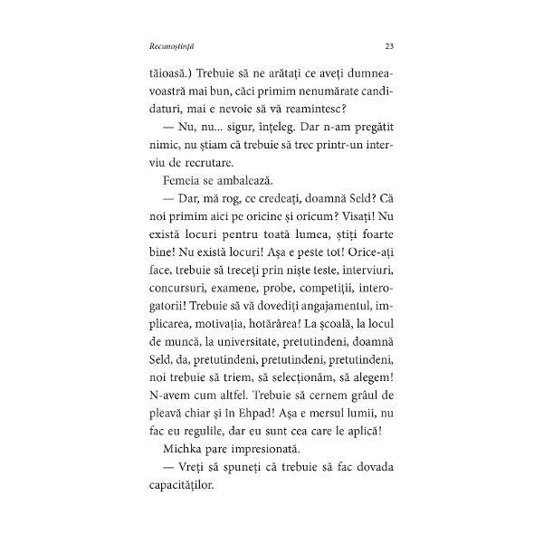 """Autoarea bestselleruluiLeg&259;minteleTraducere din limba francez&259; de Cristina JingaS&259; spui mul&355;umesc S&259; prime&351;ti recuno&351;tin&355;a celuilalt Pare foarte simplu """"Îns&259; uneori este foarte complicat"""" ne asigur&259; scriitoarea Delphine de Vigan ea îns&259;&351;i protagonista unei drame asem&259;n&259;toare celei din roman mama ei fiind internat&259; într-o"""