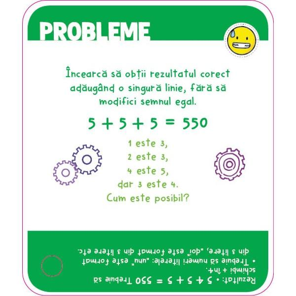 Ia cu tine aceste jetoane peste tot pentru a-&539;i antrena mintea &537;i pe cea a prietenilor t&259;i Peste 100 de probleme provoc&259;ri ghicitori &537;i enigme pe care po&539;i s&259; le ai întotdeauna în buzunar